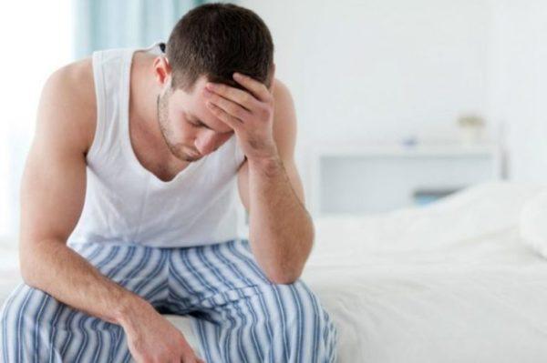 Мужчина озабочен заболеванием