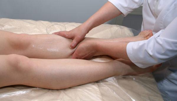 Массаж ног против отёков