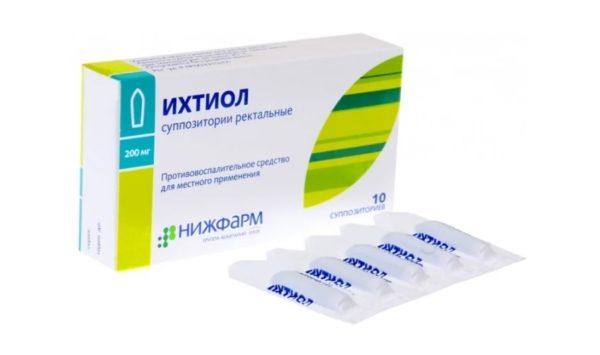 Лекарственные свечи с ихтиолом