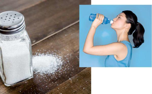 Допустимое количество соли и воды