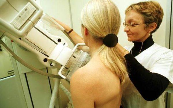 Маммография груди женщины